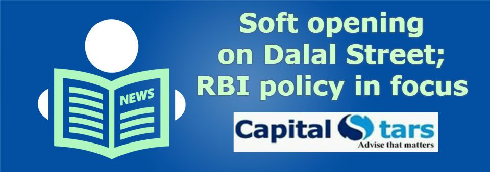 Soft Opening On Dalal Street Rbi Policy In Focus 4 Oct 2016 Major Headlines Of The Day Atlas Copco To Invest Rs 7 Financial Advisory Investing Financial