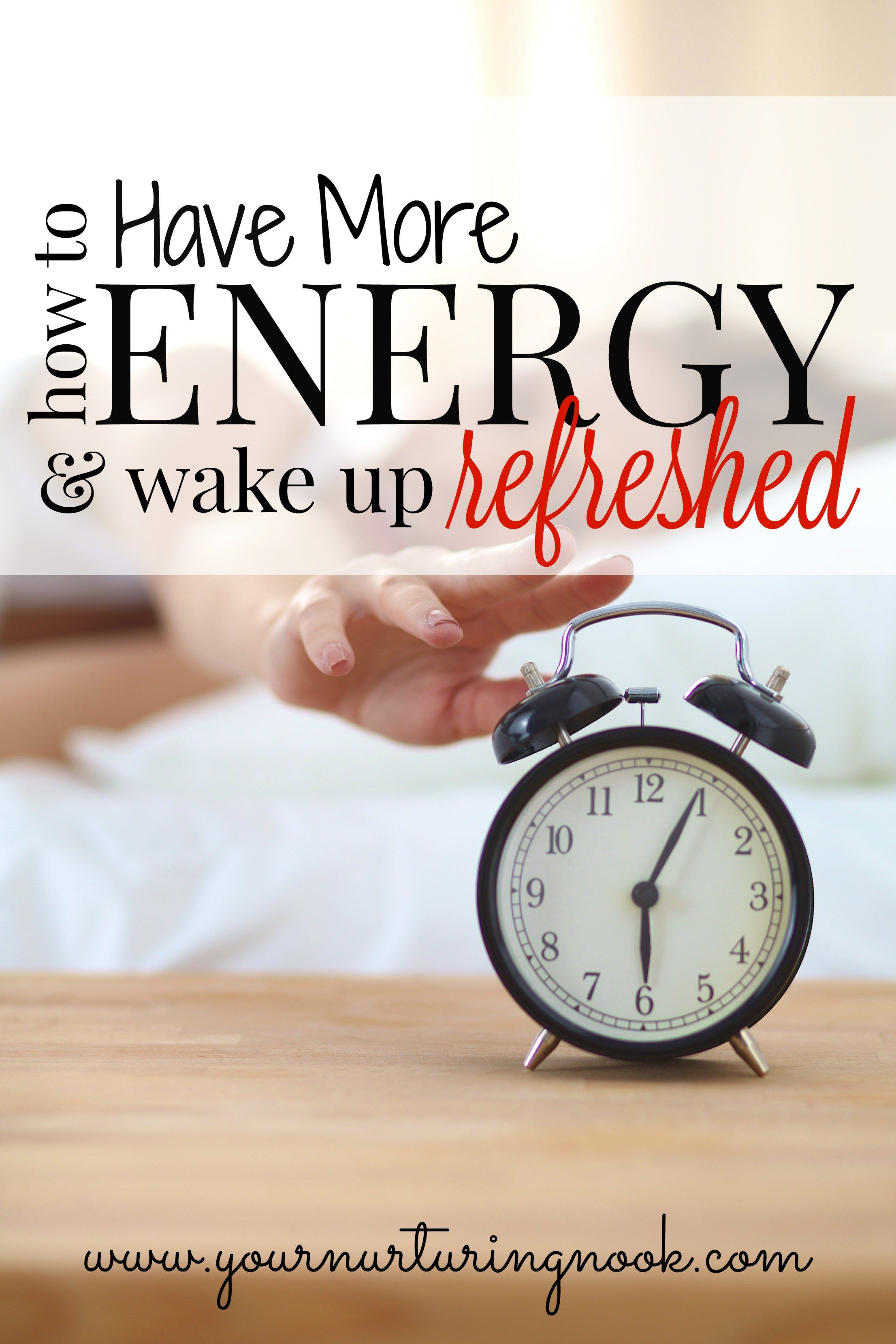 Waking up feeling tired and lethargic