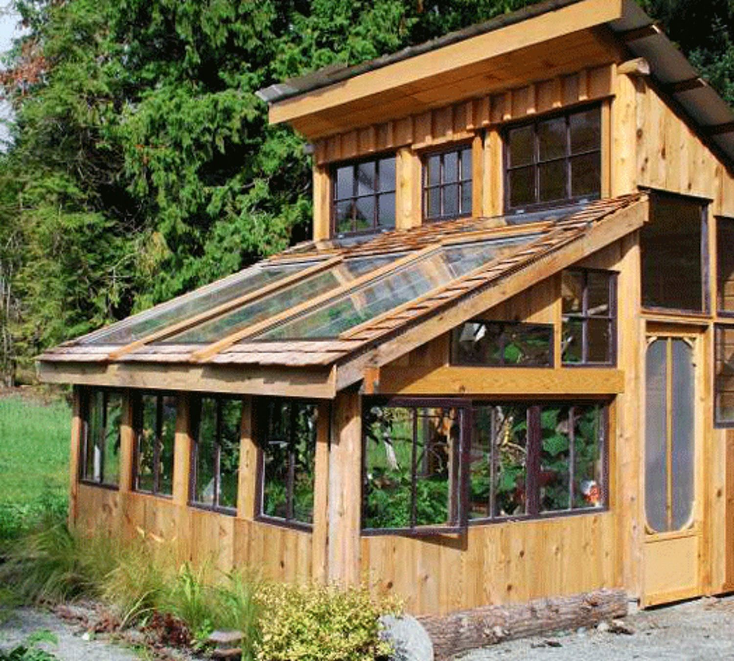 Greenhouse Made From Left Over Building Materials