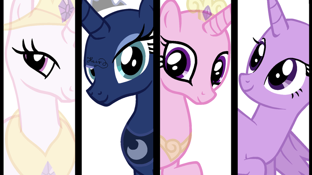 The Princesses Of Equestria Base By Vampielledeviantartcom On