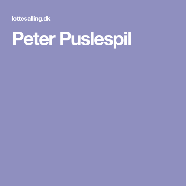 peter puslespil