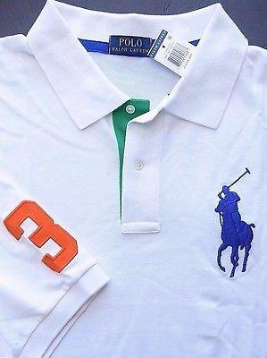 Ralph Lauren White Classic Linen Short Sleeve Dress Shirt Blue Pony NWT