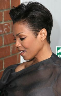 Pin By Sonia Powell On Janet Jackson Pinterest Short Hair Styles