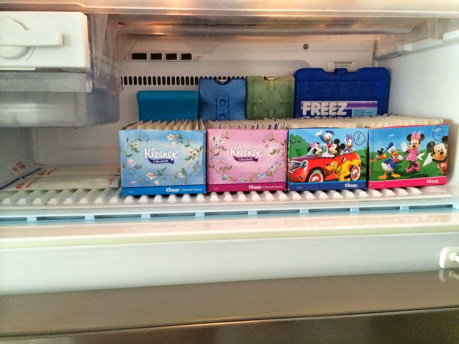 MISSRepresentation My DIY Tissue Box Breastmilk Storage Organizers