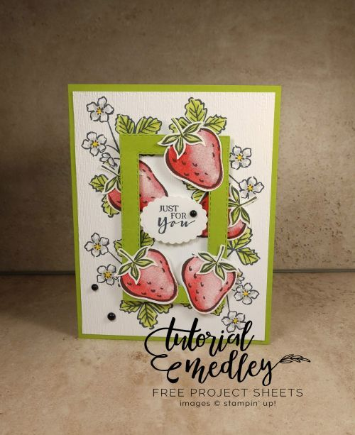 Free Tutorial Tuesday Sweet Strawberry by Jo Anne