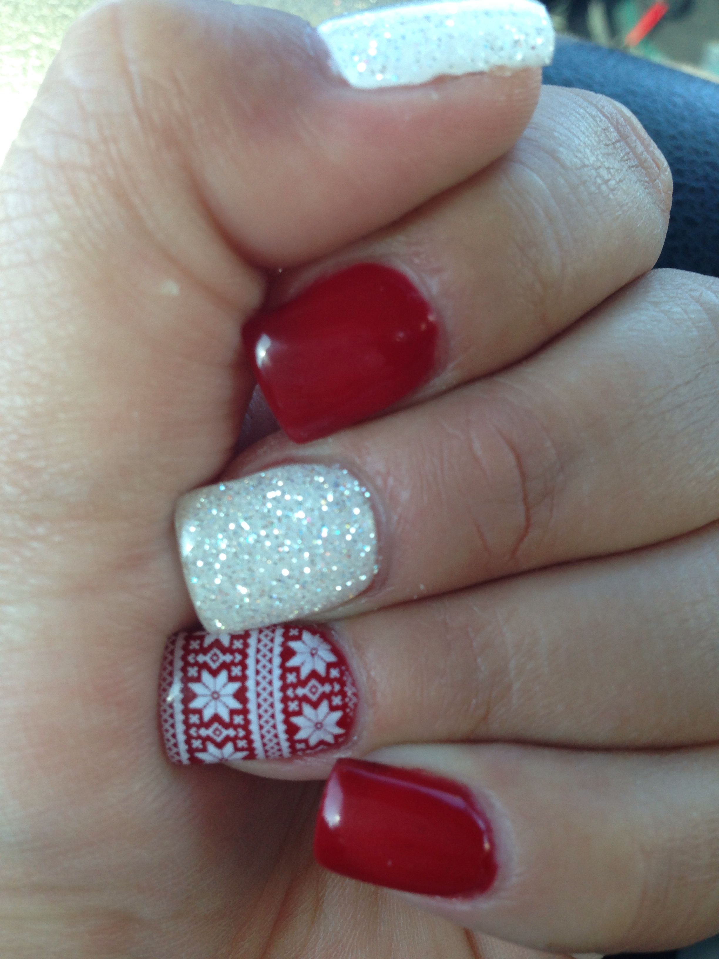 Christmas inspired nails thanks to Sara P. at Midtown Salon, Reno ...