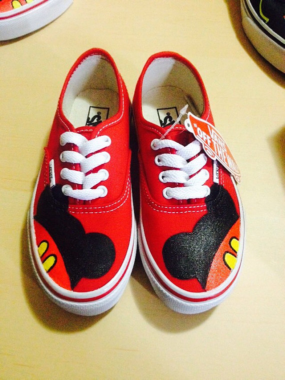 Mouse Custom Pintadas Toddler Zapatillas Mickey Shoes Vans PUzPxw