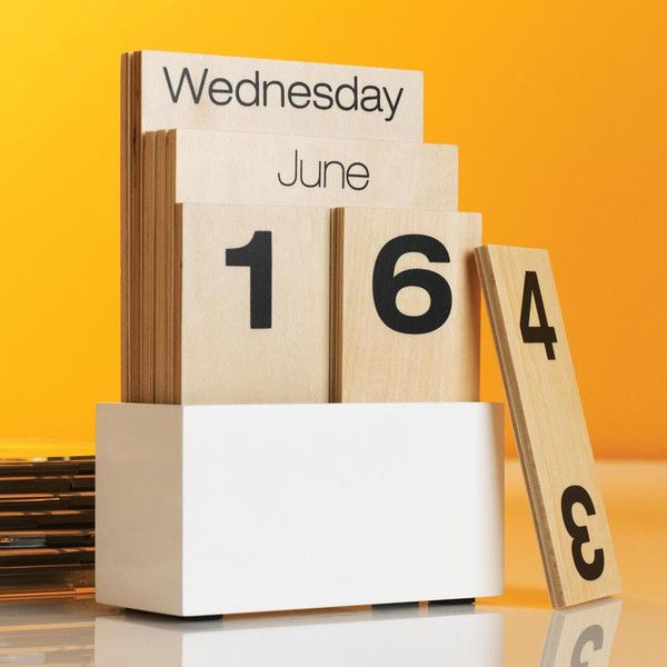 Design Ideas Contemporary Wooden Shuffle Perpetual Calendar For Home Or  Office