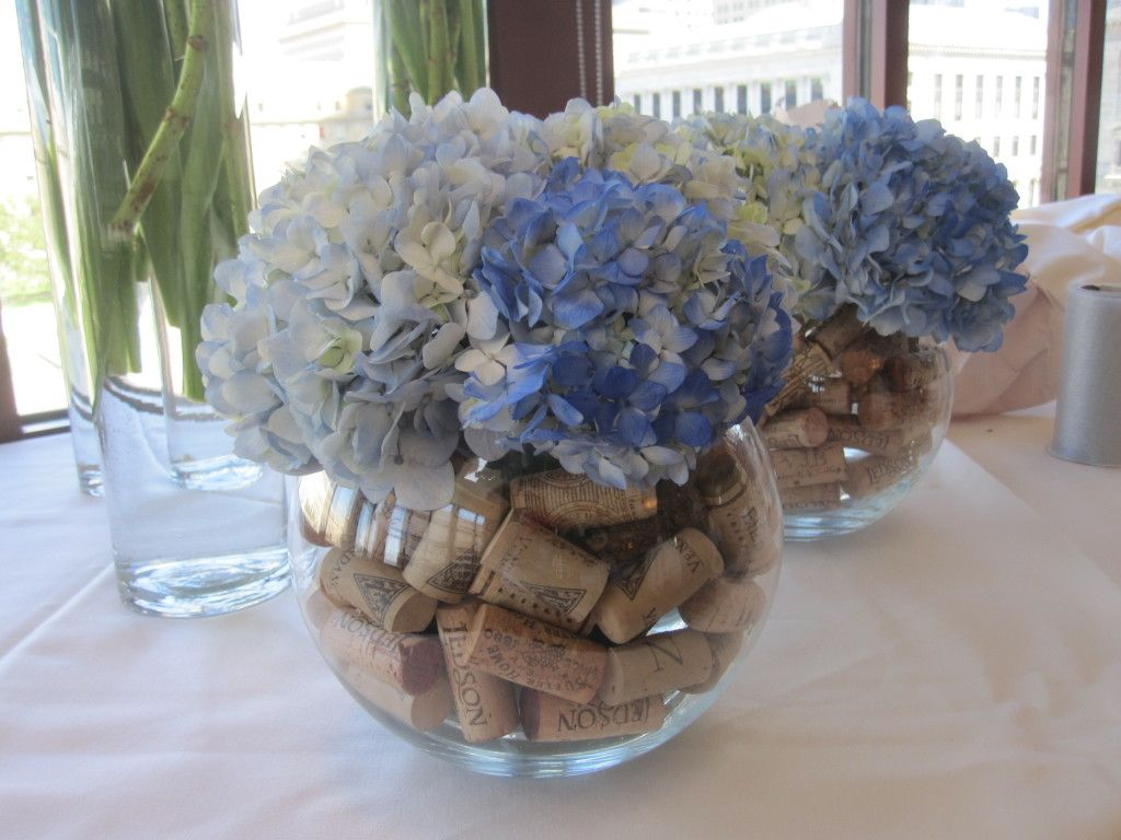wedding centerpieces for the bar navy and white wedding wine corks rh pinterest com