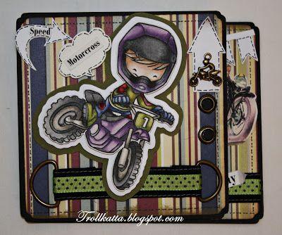 Whiff of Joy - Simply Maja Motorcross, Twisted Easel card