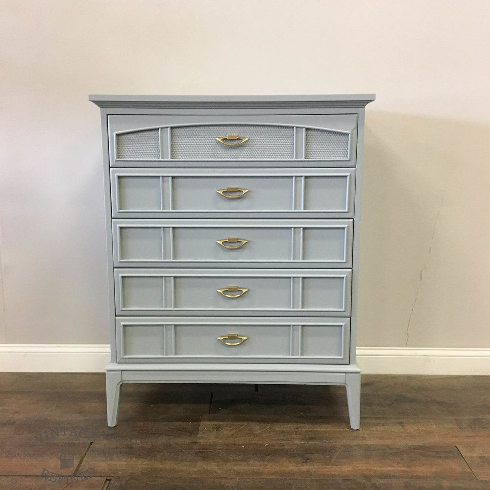 AVAILABLE Grey Lacquer Chest Vintage bedroom furniture