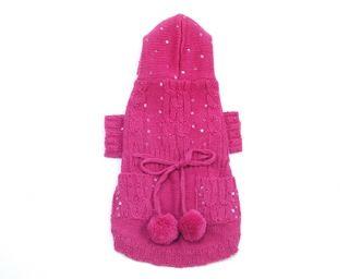 Ravishing Raspberry Knitted Hoodie 69.99 By Oscar Newman