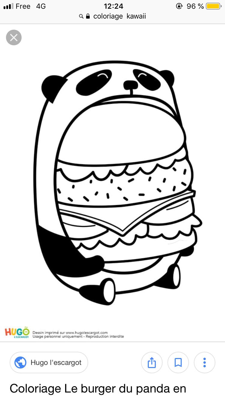 Coloriage panda kawaii (avec images) Coloriage kawaii