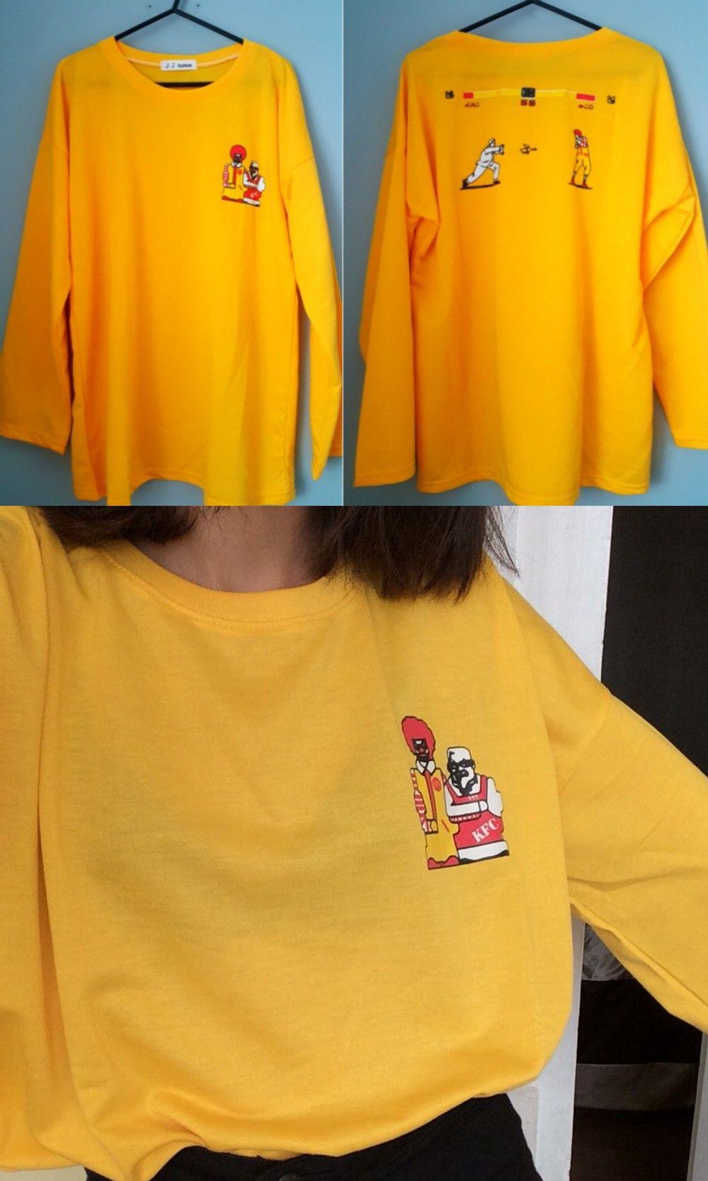 177ea4ea1f McDonalds KFC T-Shirt Camiseta WH489 Kawaii Clothing | christmas ...