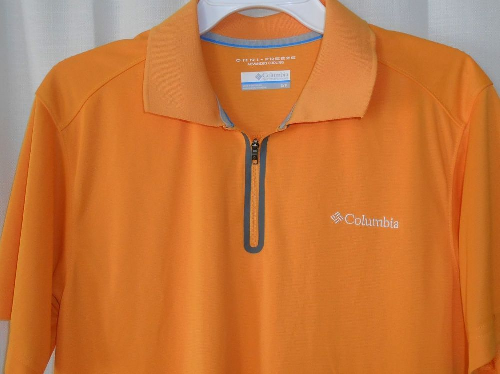 Columbia Omni Freeze Advance Cooling Polo Shirt Men Sz S Small