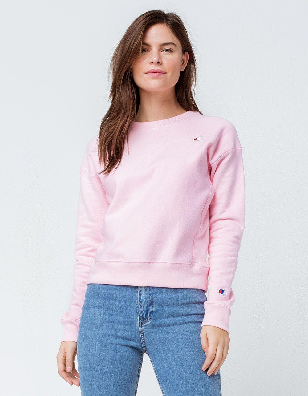 Champion Life Reverse Weave Pink Womens Sweatshirt Pink Ladies Sweatshirt Sweatshirts Women Pink Champion Sweatshirt [ 1286 x 1000 Pixel ]