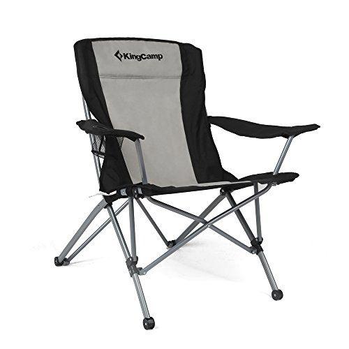 Kingcamp Heavy Duty Folding Arm Chair With Comfotable High Back