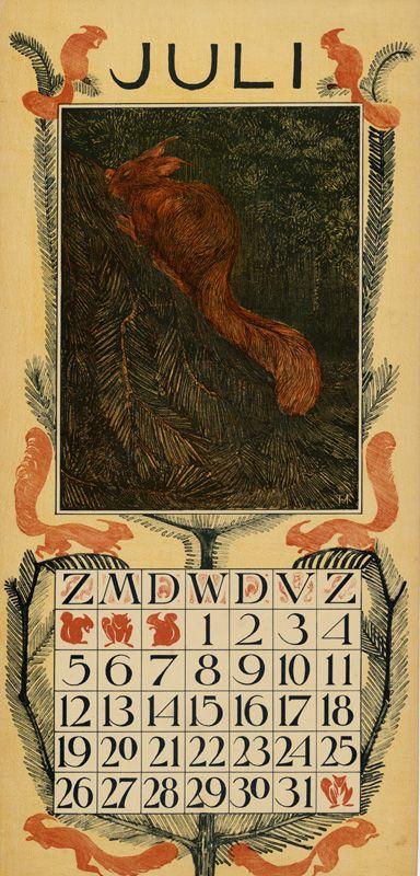 Theodoor van Hoytema,  calendar 1903 juli