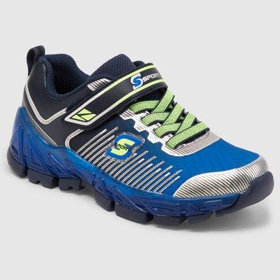 9007a651b4ee Boys  S Sport by Skechers Nenzo Light Up Performance Athletic Shoes - Blue  13