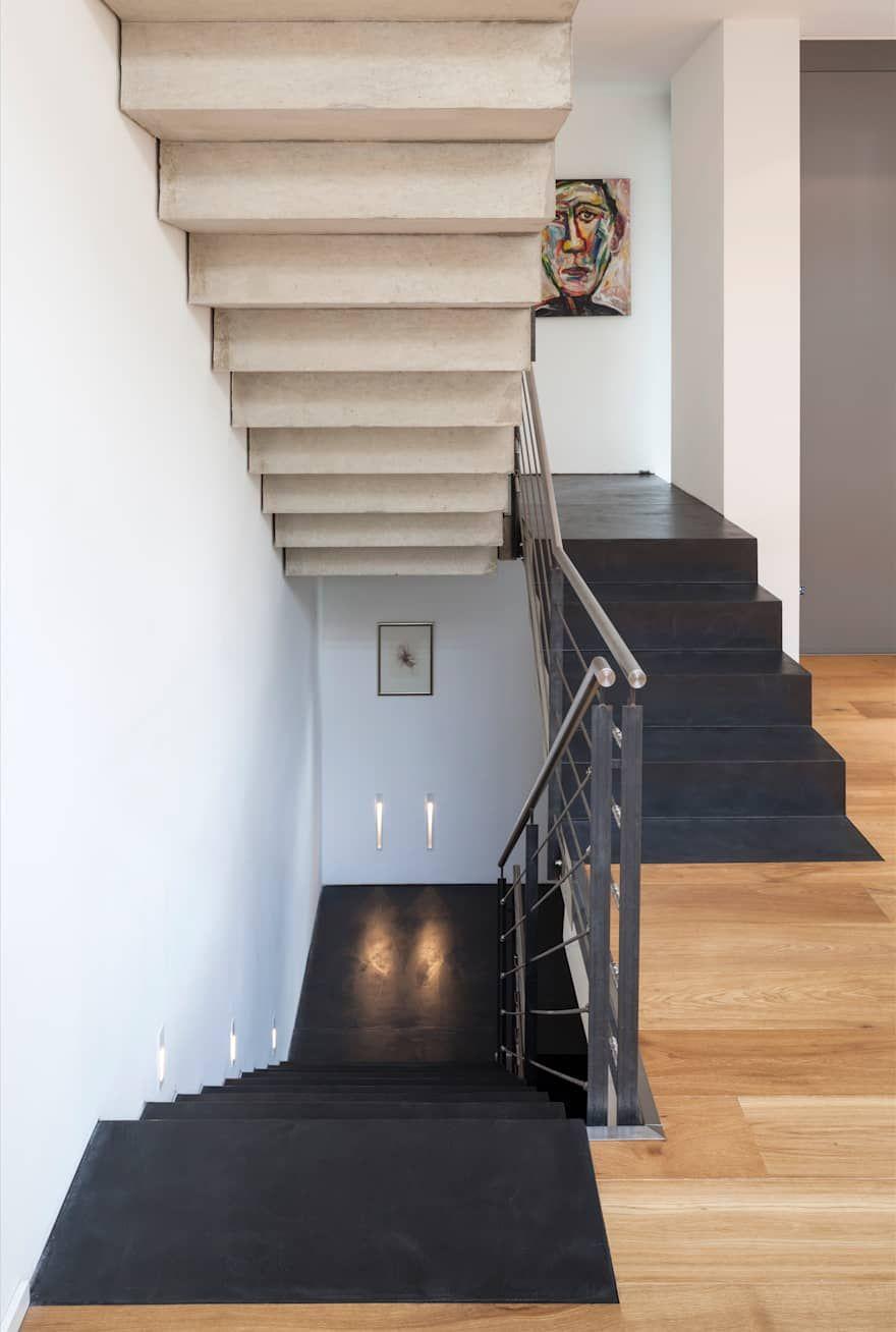 Beton Cire Auf Treppe Einfamilienhaus Bonn Von Einwandfrei