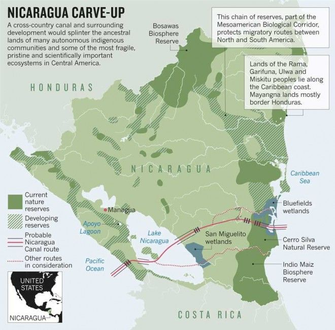 Why The Plan To Dig A Canal Across Nicaragua Could Be A Very Bad - Where is nicaragua on the world map