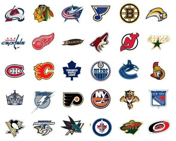 Primary Logos Used By All 30 National Hockey League Nhl Teams Nhl Logos Hockey Logos Nhl