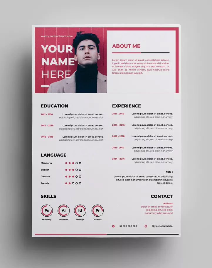Resume Design Templates Ai Eps A4 Paper Size Download Graphic Design Resume Resume Design Template Resume Design
