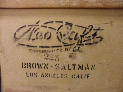 Can anyone tell me about this stamp on vintage desk I have , Neo Craf copyrighted by 225  Brown Saltman Los Anegels Calif