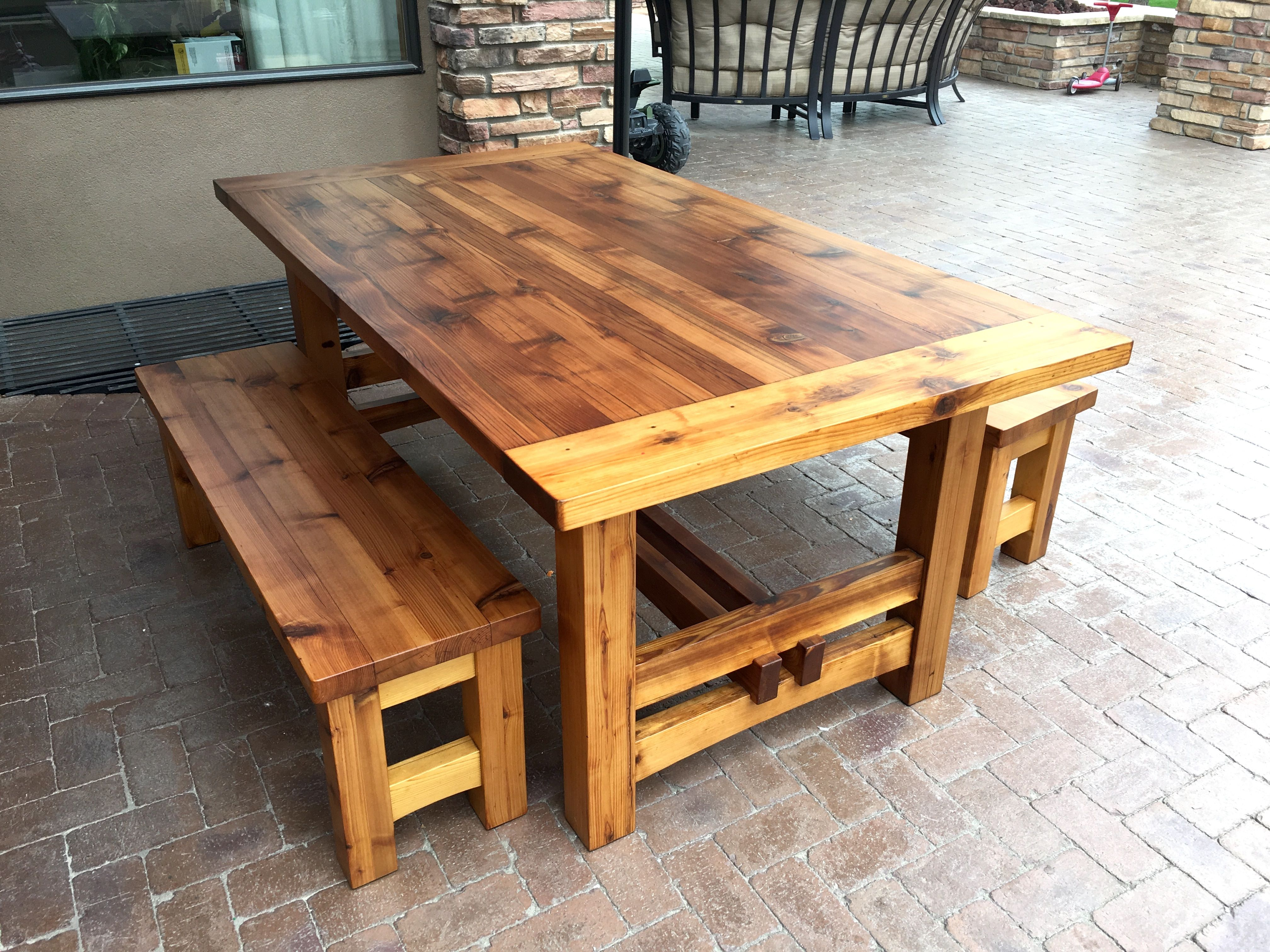 An Incredibly Durable Outdoor Finish Using Epoxy And Marine Varnish Outdoor Wood Furniture Used Outdoor Furniture Outdoor Wood Table
