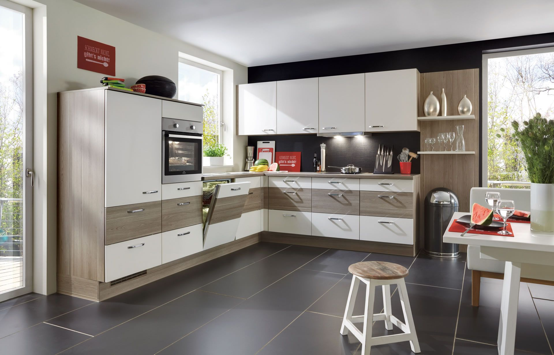 contemporary kitchens cabinets nobilia k 252 chen kitchens nobilia produkte h 246 lzer 13835