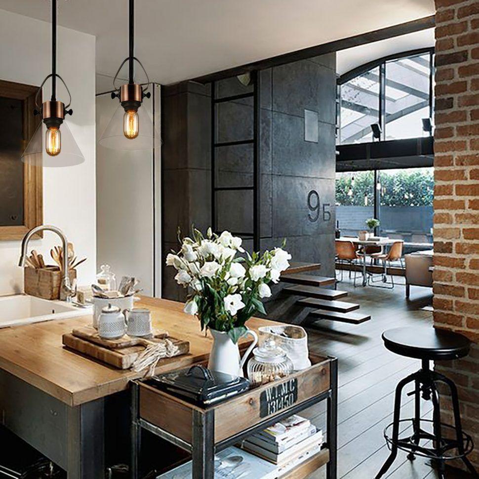 Industrial Style Kitchen Island: Kitchen Style Enclose Industrial Kitchen With Black