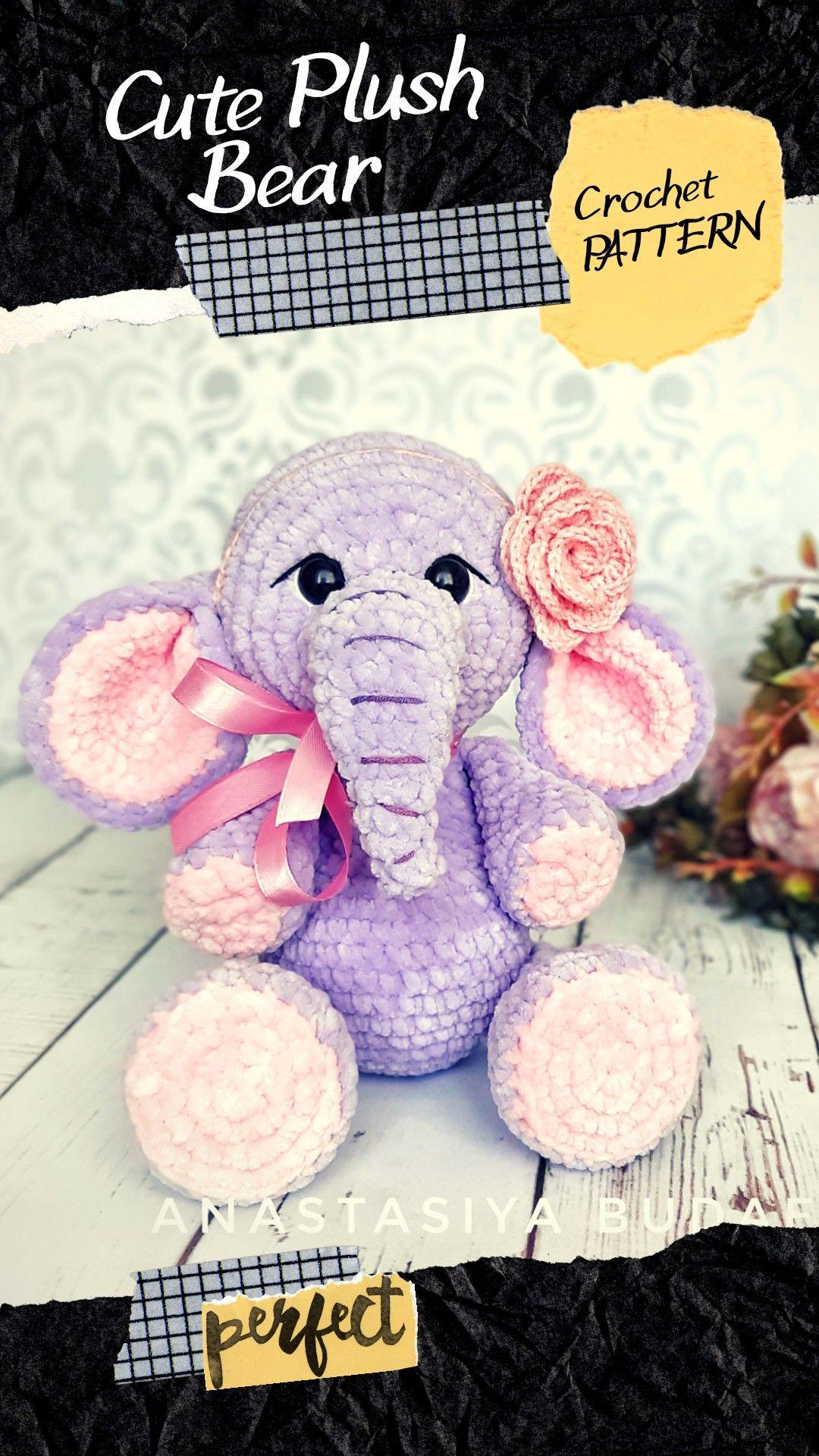 Crochet Pattern Elephant Amigurumi 2 options of Doll