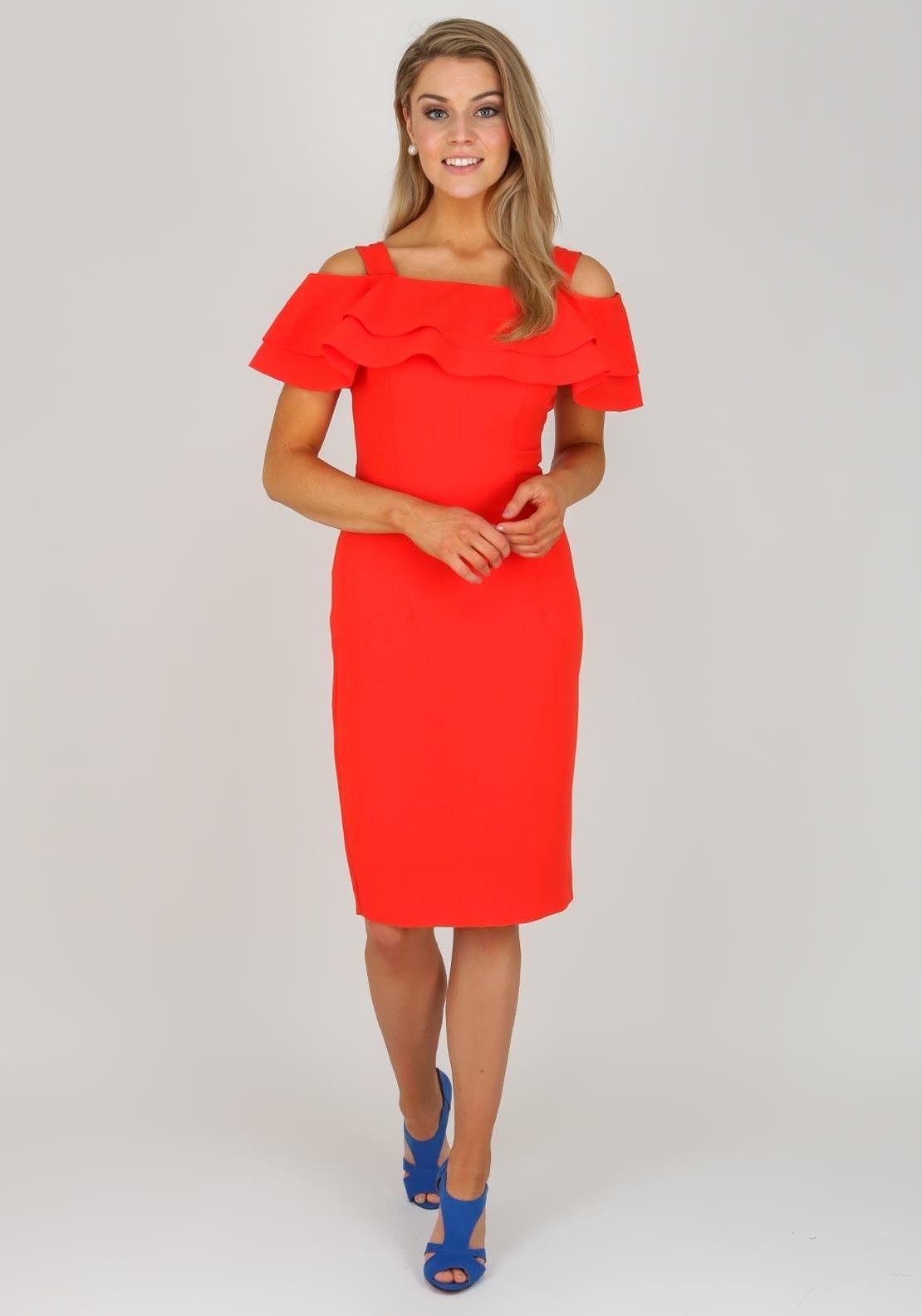 Bourne Kori Ruffle Trim Cold Shoulder Dress ca5eae1b0