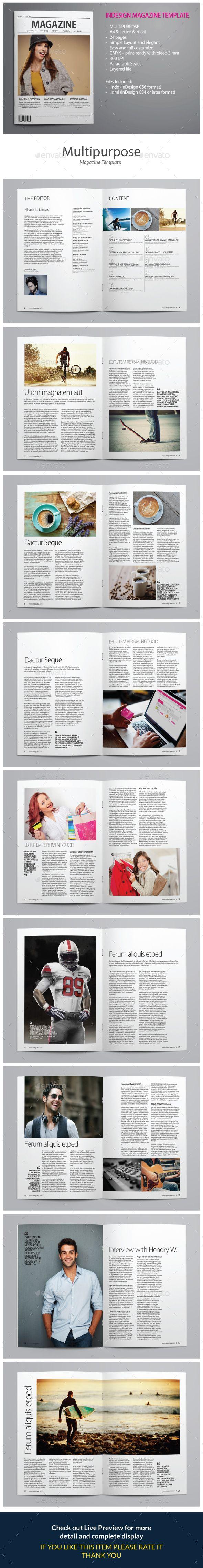 Indesign Magazine Template vol 5 | Revistas