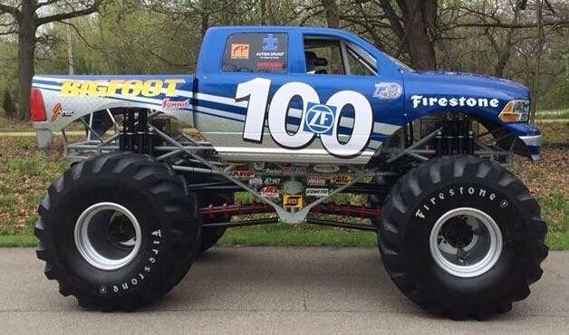 Zf 100 Dodge Bigfoot Monster Trucks Cool Trucks Monster Truck
