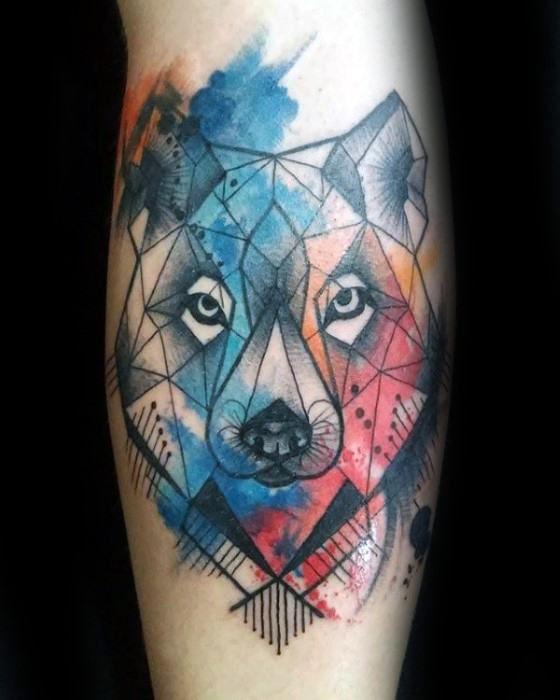 50 Wolf Aquarell Tattoo Designs Für Männer Cool Ink Ideas