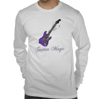 Psychedelic Music Electric Purple Guitar Magic T Shirt