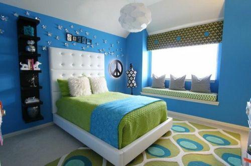 Einrichtungsideen jugendzimmer blau  Farbgestaltung fürs Jugendzimmer – 100 Deko- und Einrichtungsideen ...