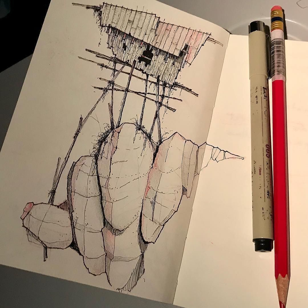 In this #architecture #sketch Cormac Phalen (@archy_type) once again