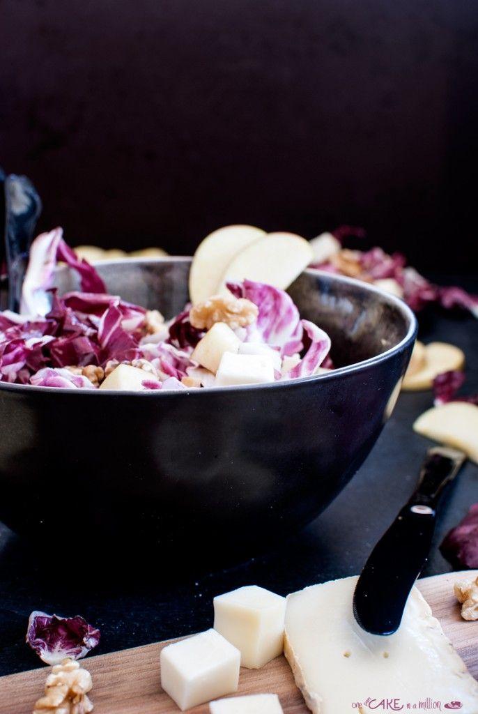 Insalatina Autunnale: radicchio, mele, noci e taleggio _ Autumn salad : radicchio, apples, walnuts and taleggio cheese