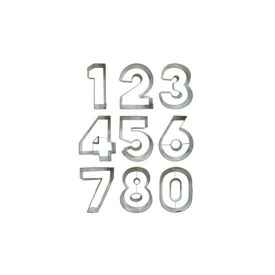 Leeftijd koekvormen alle cijfers. Set met de cijfers 0 tot en met 8 om koekjes van te bakken. U kunt het cijfer 6 tot een 9 omdraaien. De vormen zijn ongeveer 6,4 cm groot.