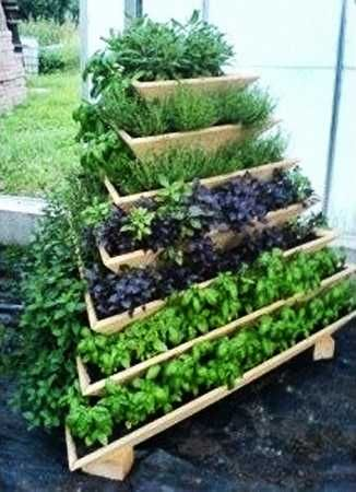 Love This Tiered Herb Garden. What A Space Saver!
