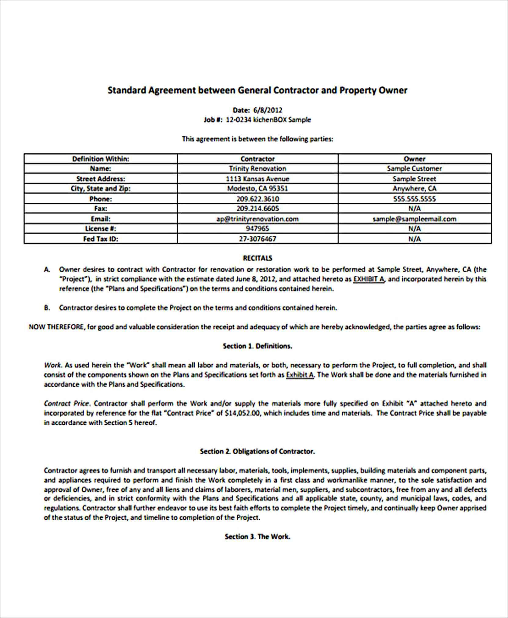 Basic Agreement Template Business Template Templates Agreement