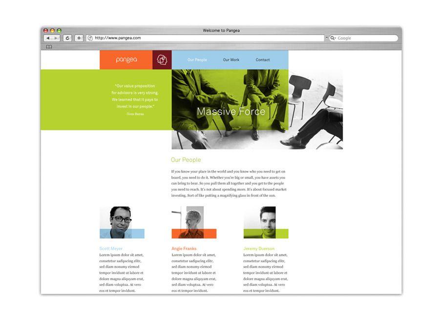 Pangea Branding Web Site Designer Brad Surcey Image 2 Of 2 Website Inspiration Web Design Lettering Styles