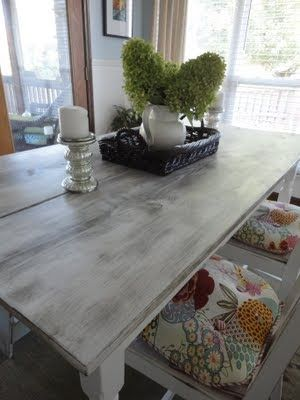 I Like The Distressed White Grey Color Of This Table May Do