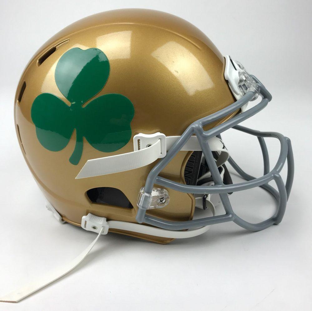 80251a37c New Xenith Notre Dame Fighting Irish X2E Football Helmet Adult Medium Gold  Green (eBay Link)