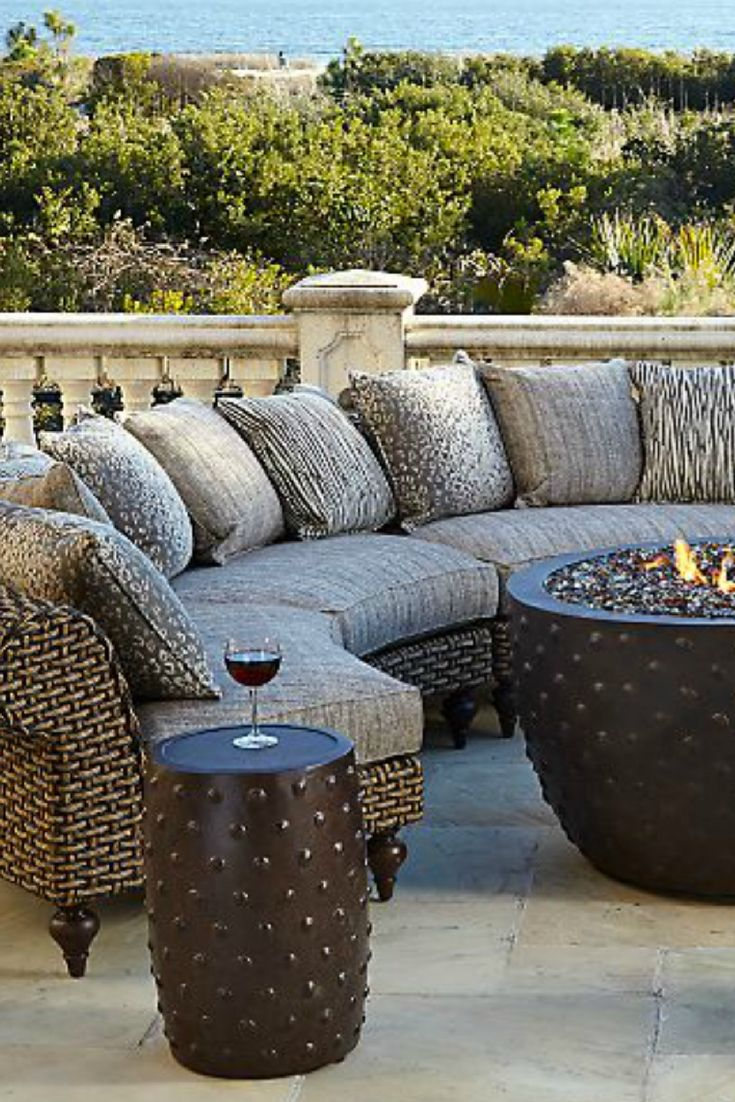 Elegant entertaining is easy with this crescent style ... on Fine Living Patio Set id=88755