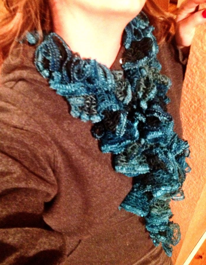 Sashay scarf. Crocheted. Thanks, Alice, for teaching me how to make ...