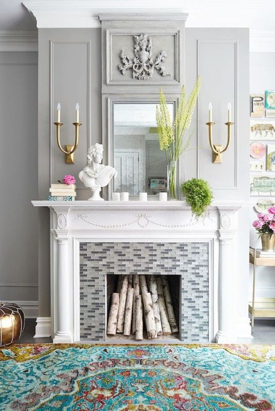 13 Creative Ideas To Decorate A Non Working Fireplace | INSPIRING DESIGN |  Pinterest | Decorating, Living Rooms And Fireplace Makeovers