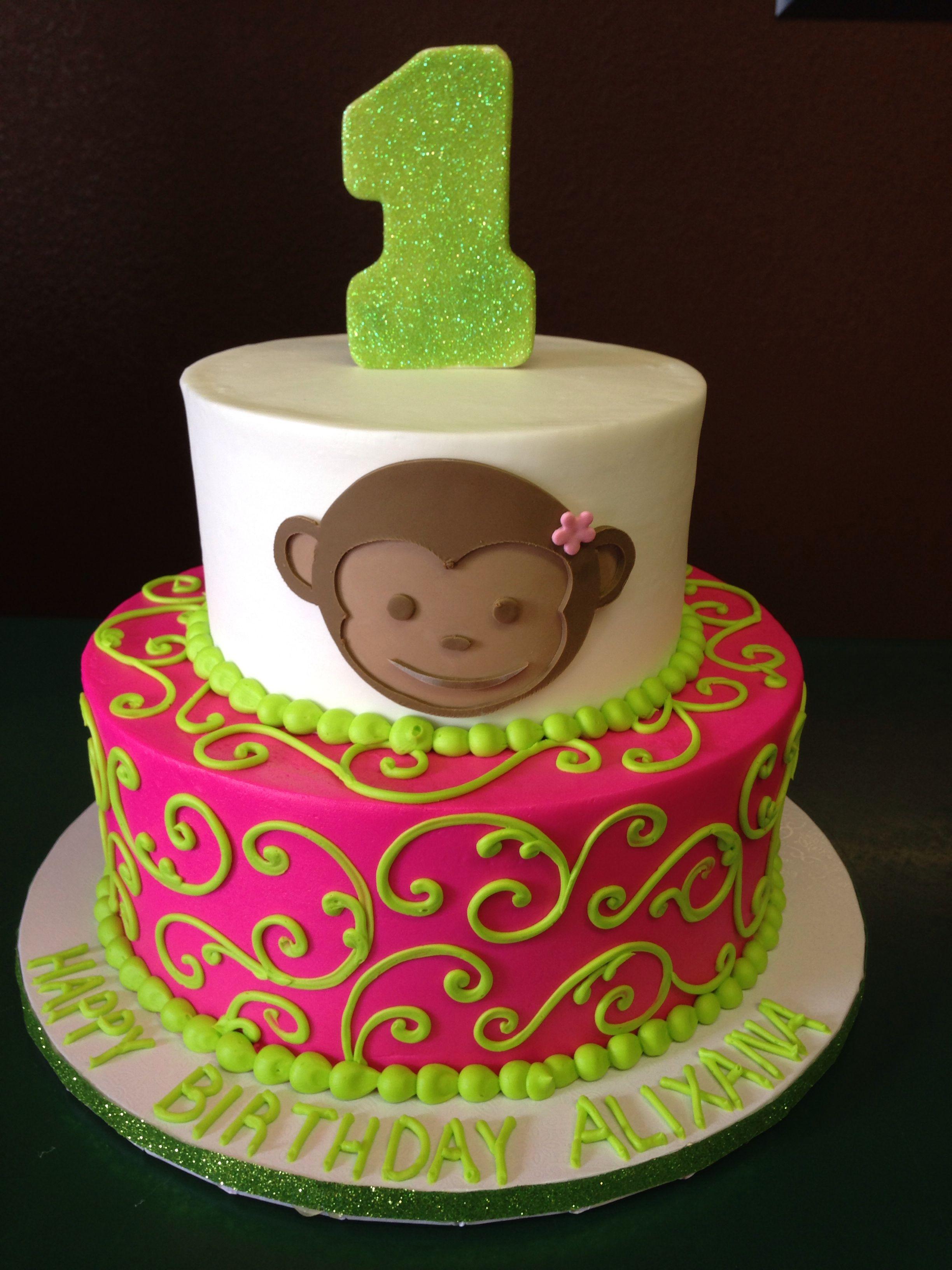 Monkey Birthday Cake By Cake Designs Las Vegas Cakes Pinterest